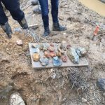 Various rocks found at the Artisan 4100 construction site by University of MD students