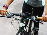 Close up of bicycle handlebars
