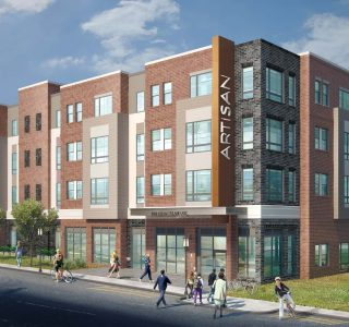 Artisan 4100 Apartments exterior rendering