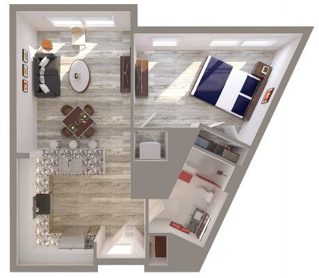 The Silversmith floor plan