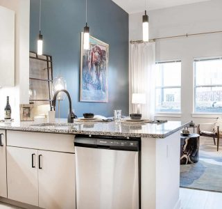 Artisan 4100 kitchen and living room