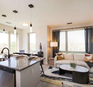 Cobbler floor plan kitchen/living area